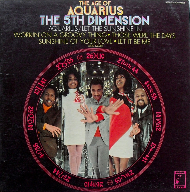 Aquarius album cover by the Fifth Dimension, May 1969