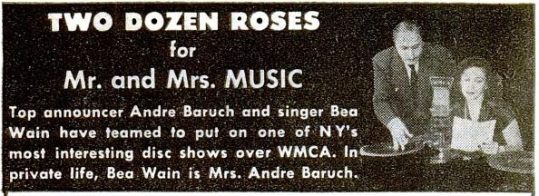 baruch and wain advertisement from billboard magazine 1947